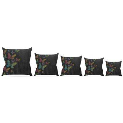 Butterflies Throw Pillow Size: 18 H x 18 W x 3 D
