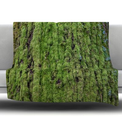 Emerald Moss Fleece Throw Blanket Size: 80 L x 60 W