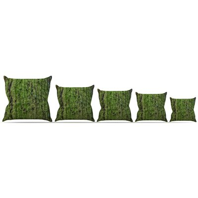 Emerald Moss Throw Pillow Size: 16 H x 16 W x 3 D