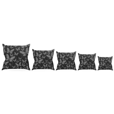 Butterflies III Throw Pillow Size: 16 H x 16 W x 3 D