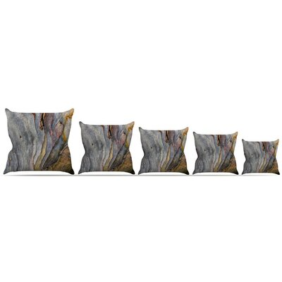 Milky Wood Throw Pillow Size: 16 H x 16 W x 3 D