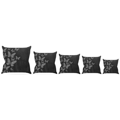 Butterflies IV Throw Pillow Size: 16 H x 16 W x 3 D