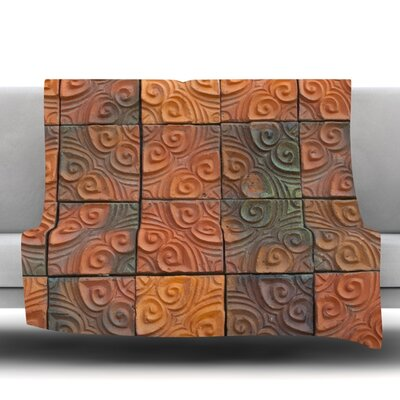 Whimsy Tile Fleece Throw Blanket Size: 40 L x 30 W