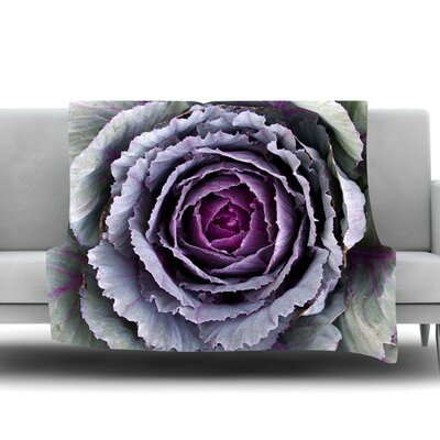 Flower Love Fleece Throw Blanket Size: 60 L x 50 W