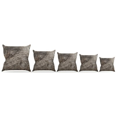 Tree Bark Throw Pillow Size: 16 H x 16 W x 3 D