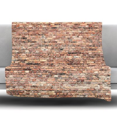 Rustic Bricks Fleece Throw Blanket Size: 40 L x 30 W