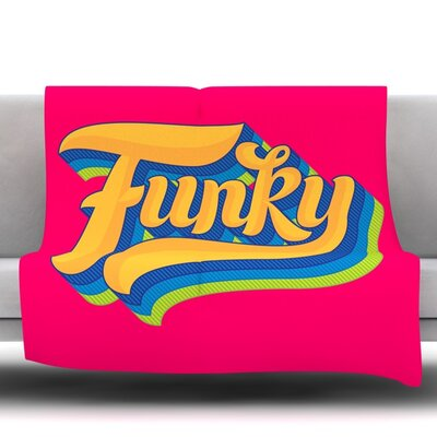 Funky Fleece Throw Blanket Size: 80 L x 60 W