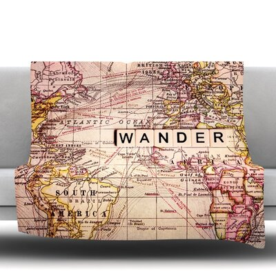 Wander Fleece Throw Blanket Size: 60 L x 50 W