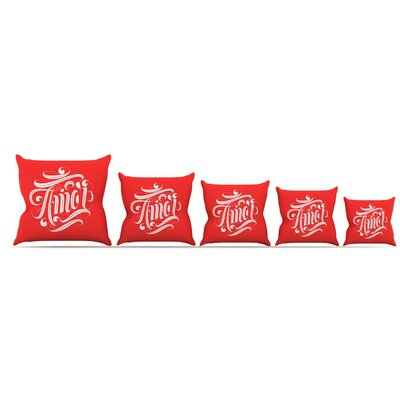 Amor Throw Pillow Size: 16