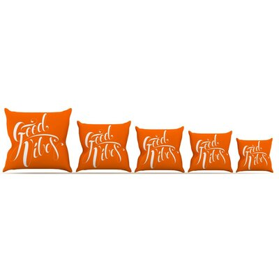 Good Vibes Throw Pillow Size: 26