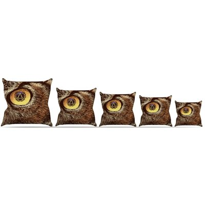 Sharp Eye Throw Pillow Size: 16 H x 16 W x 3 D