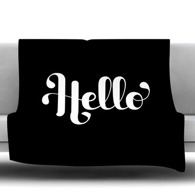 Hello Fleece Throw Blanket Size: 80 L x 60 W
