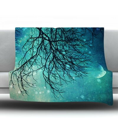 Winter Moon Fleece Throw Blanket Size: 60 L x 50 W