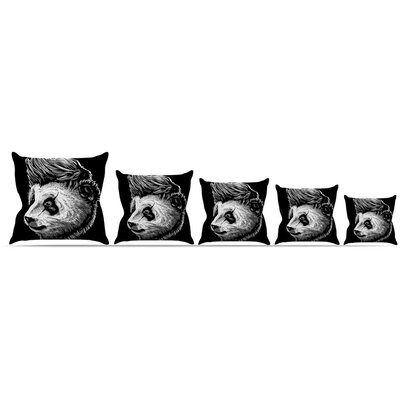 Funky Panda Throw Pillow Size: 16 H x 16 W x 3 D
