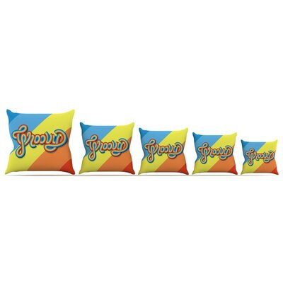 Groovy Throw Pillow Size: 16 H x 16 W x 3 D