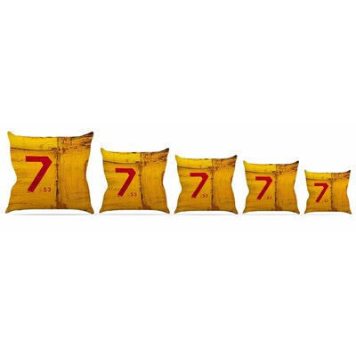 7S3 Throw Pillow Size: 26 H x 26 W x 5 D