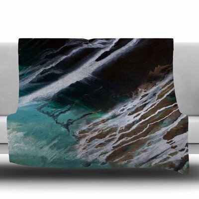 Ocean Majestic Fleece Throw Blanket Size: 40 L x 30 W