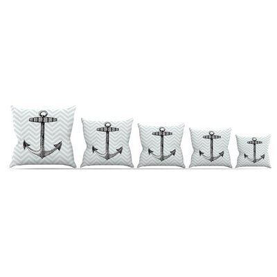 Anchor Throw Pillow Size: 16 H x 16 W x 3 D