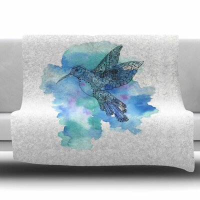 Hummingbird Fleece Throw Blanket Size: 80 L x 60 W