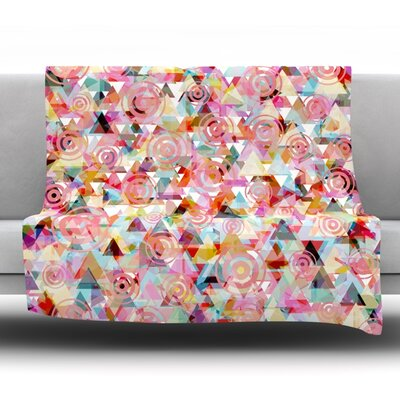 Geo Fleece Throw Blanket Size: 80 L x 60 W