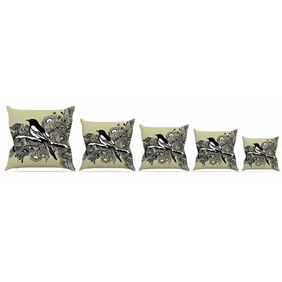 Magpie Throw Pillow Size: 16 H x 16 W x 3 D