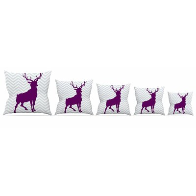 Chevron Deer Throw Pillow Size: 26 H x 26 W x 5 D