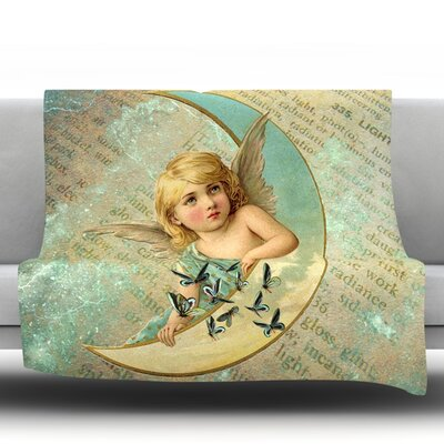 Angel Fleece Throw Blanket Size: 80 L x 60 W