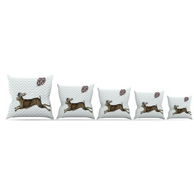 Hare Today Throw Pillow Size: 20 H x 20 W x 4 D