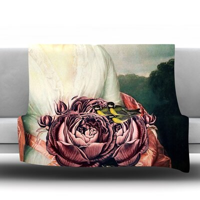 The Bouquet Fleece Throw Blanket Size: 80 L x 60 W