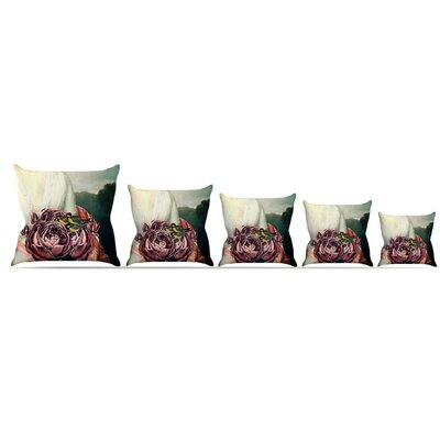 The Bouquet Throw Pillow Size: 18 H x 18 W x 3 D