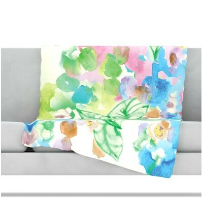 Leaf Bouquet Fleece Throw Blanket Size: 80 L x 60 W