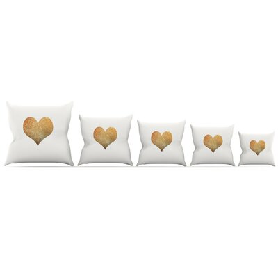 Heart Throw Pillow Size: 16 H x 16 W x 3 D