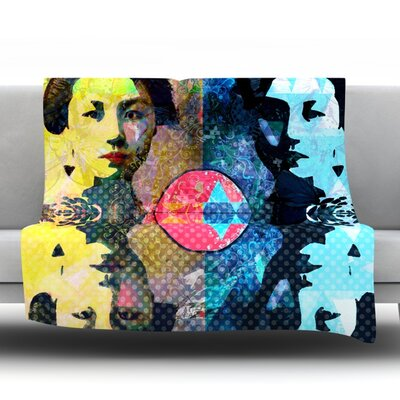 Kimono Girl Fleece Throw Blanket Size: 40 L x 30 W