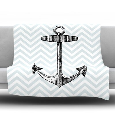 Anchor Fleece Throw Blanket Size: 60 L x 50 W
