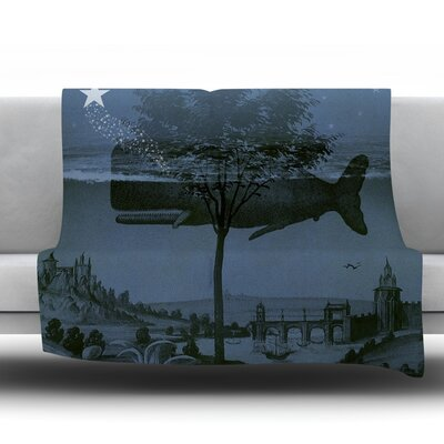 Whale Watch Fleece Throw Blanket Size: 40 L x 30 W