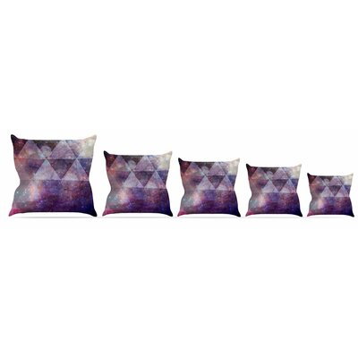 Geometric Stars Throw Pillow Size: 18 H x 18 W x 3 D