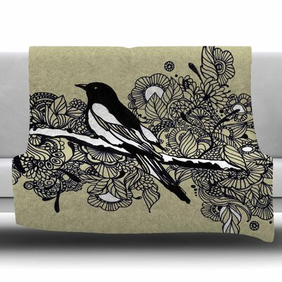 Magpie Fleece Throw Blanket Size: 40 L x 30 W