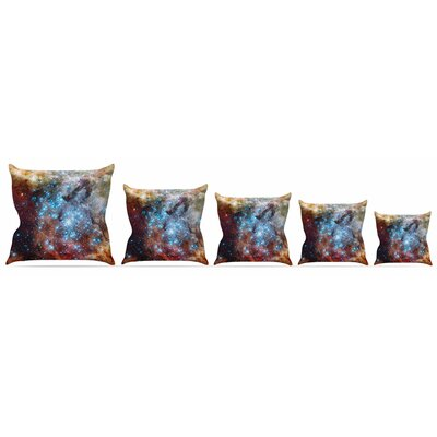 Star Cluster Throw Pillow Size: 16 H x 16 W x 3 D