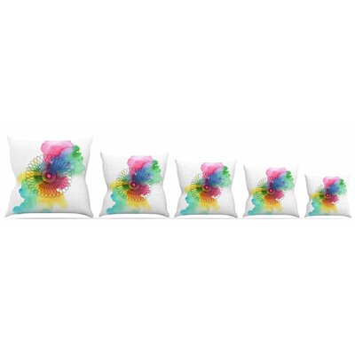 Rainbow Spiro Throw Pillow Size: 16 H x 16 W x 3 D