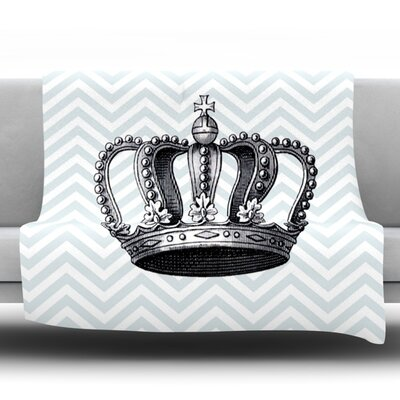 Crown Fleece Throw Blanket Size: 60 L x 50 W