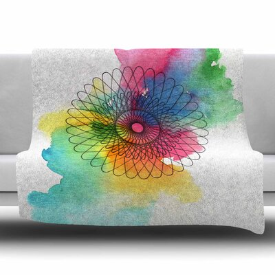 Rainbow Spiro Fleece Throw Blanket Size: 60 L x 50 W