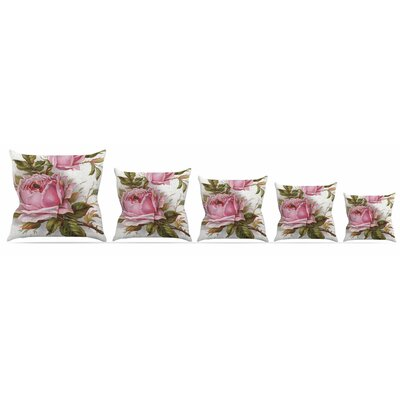 Vintage Rose Throw Pillow Size: 26 H x 26 W x 5 D