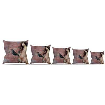 Faith Hope Love Throw Pillow Size: 18 H x 18 W x 3 D