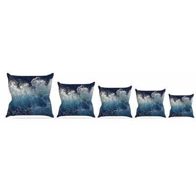 Sea Spray Throw Pillow Size: 16 H x 16 W x 3 D