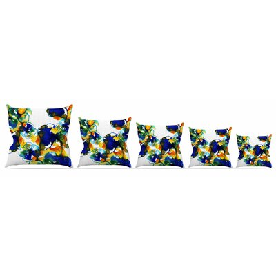 Floral Throw Pillow Size: 26 H x 26 W x 5 D
