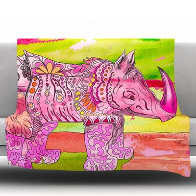 Pretty by Catherine Holcombe Fleece Throw Blanket Size: 60 H x 50 W