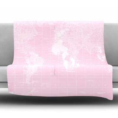 Her World by Catherine Holcombe Fleece Throw Blanket Size: 60 H x 50 W