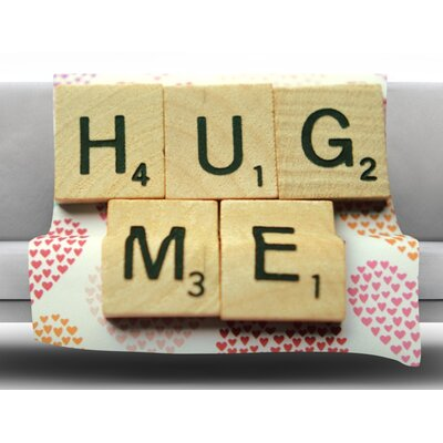 Hug Me by Cristina Mitchell Fleece Throw Blanket Size: 60 L x 50 W
