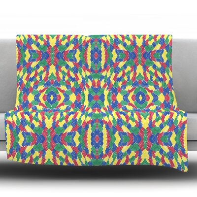 Energy Abstract by Empire Ruhl Fleece Throw Blanket Size: 40 L x 30 W