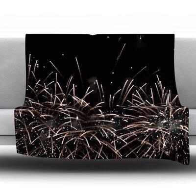 Fireworks by Catherine McDonald Fleece Throw Blanket Size: 40 L x 30 W